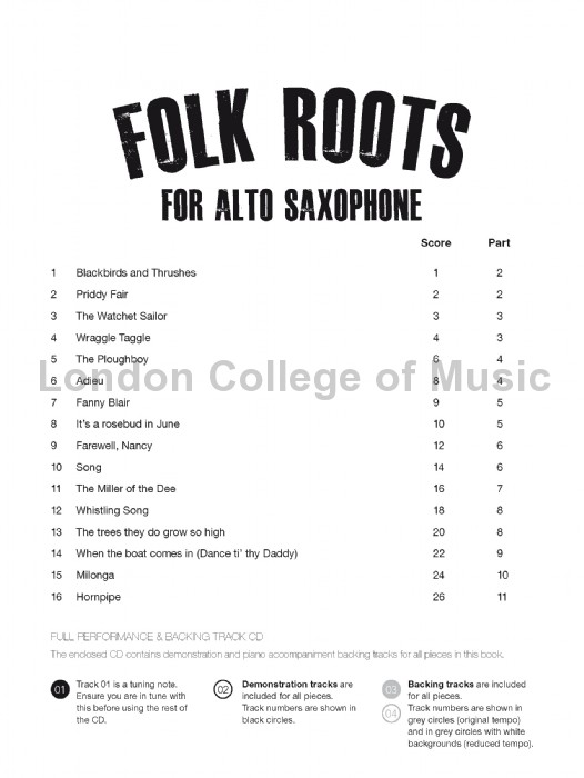 Davies, Hywel - Folk Roots for Alto Saxophone