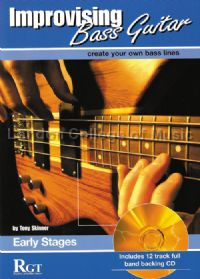 RGT Improvising Bass Guitar Book 1 Early Stages (Book & CD)