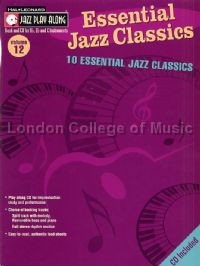 Jazz Play Along 12 Essential Jazz Classics Book & CD