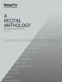 A Recital Anthology (Low Voice & Piano)