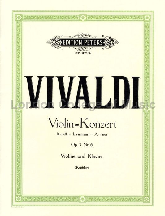 Antonio Vivaldi - Concerto in A minor Op 3 No 6 RV 356